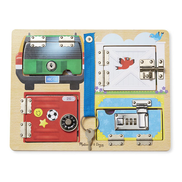 Melissa & Doug Locks and Latches Wooden Activity Board