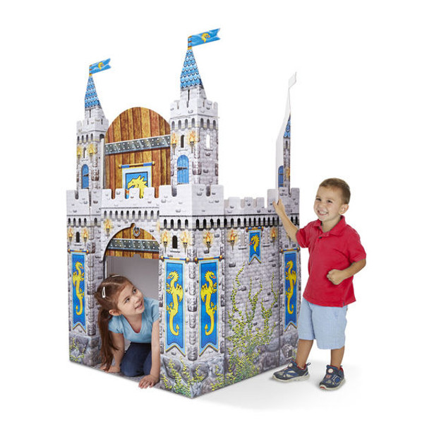 Melissa and Doug Cardboard Medieval Castle Indoor Playhouse