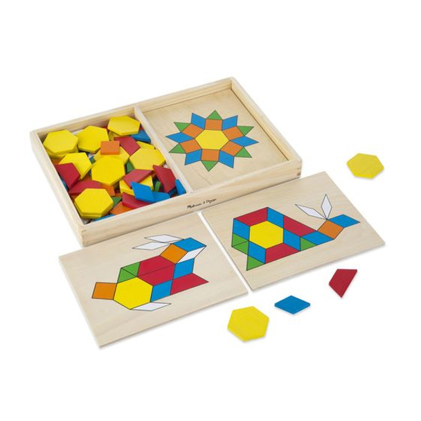 Pattern Blocks and Boards Classic Toy by Melissa & Doug