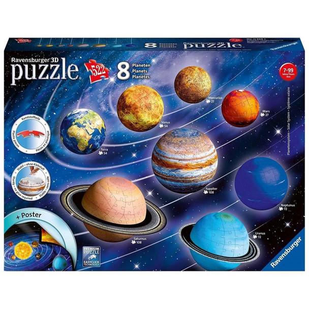 Ravensburger Solar System 8 Planets 3D Puzzle Model 522pc