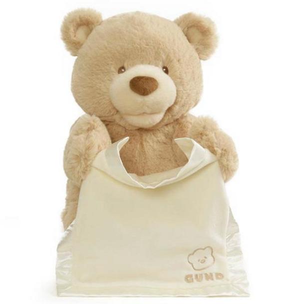 Baby GUND My First Teddy Bear Peek A Boo Animated Plush - Cream 30cm