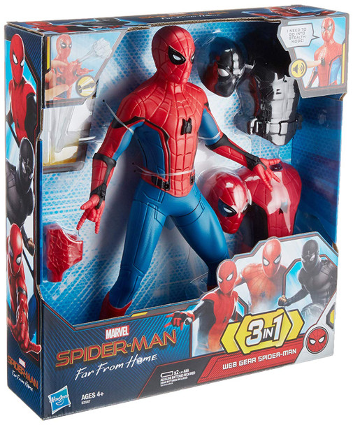 Hasbro Marvel Far From Home Web Gear Spider-Man Action Figure - 35cm