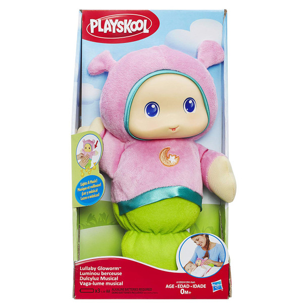 Playskool Lullaby Gloworm with Lights & Music - Pink