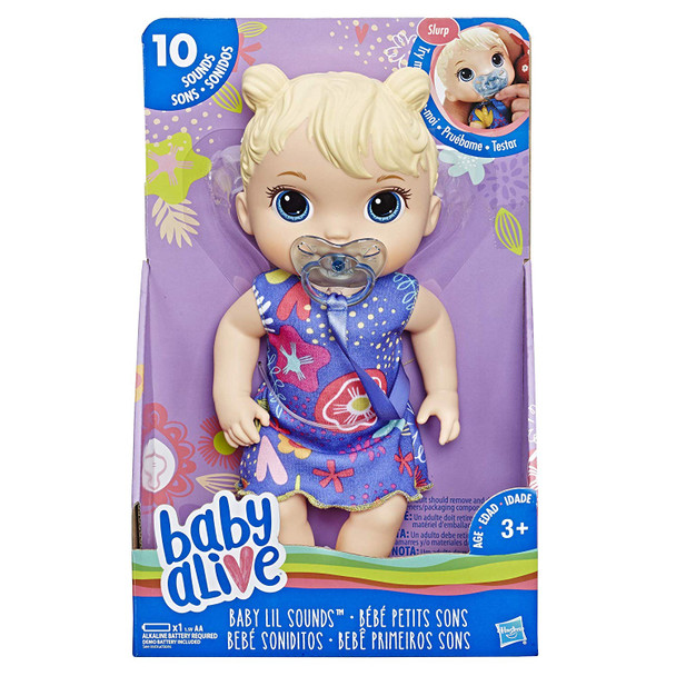 Hasbro Baby Alive Lil Sounds Baby - Blonde