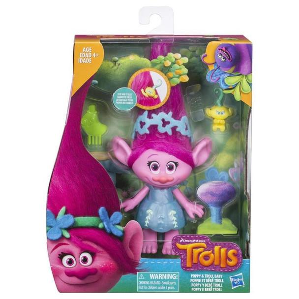 Dreamworks Trolls Poppy & Troll Baby Hairplay Set
