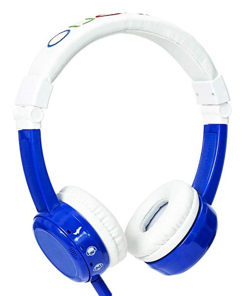 Onanoff BuddyPhones Volume Limiting Headphones For Kids - Blue