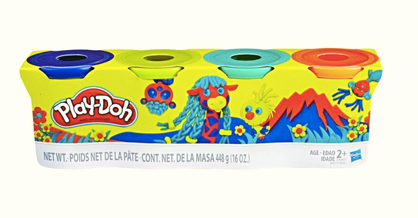 Play-Doh 4-Pack of 4-Ounce Cans Classic Assortment - Wild Colours