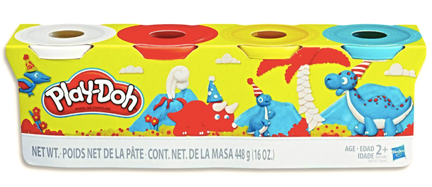 Play-Doh 4-Pack of 4-Ounce Cans Classic Assortment - Cool Colours