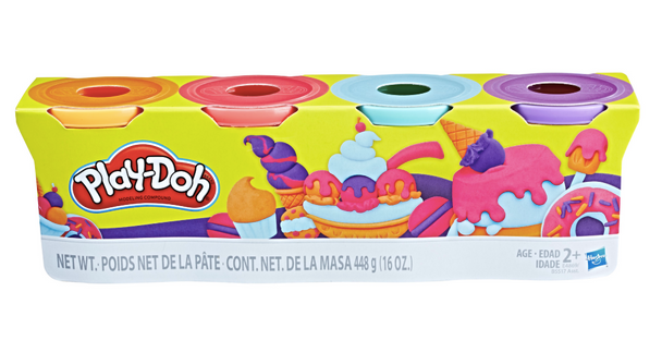 Play-Doh 4-Pack of 4-Ounce Cans Classic Assortment - Sweet Colours