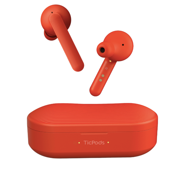 Mobvoi TicPods Free Wireless Earbuds and Charging case - Lava