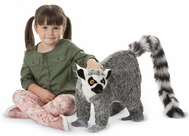 Melissa and Doug Large Lifelike Plush Lemur - 60cm
