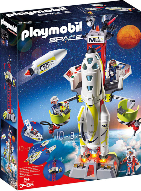 Playmobil Mars Mission Rocket with Launch Site 9488