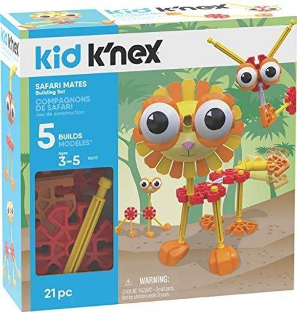 Kid K'Nex Safari Mates Building Set - 21 Pieces