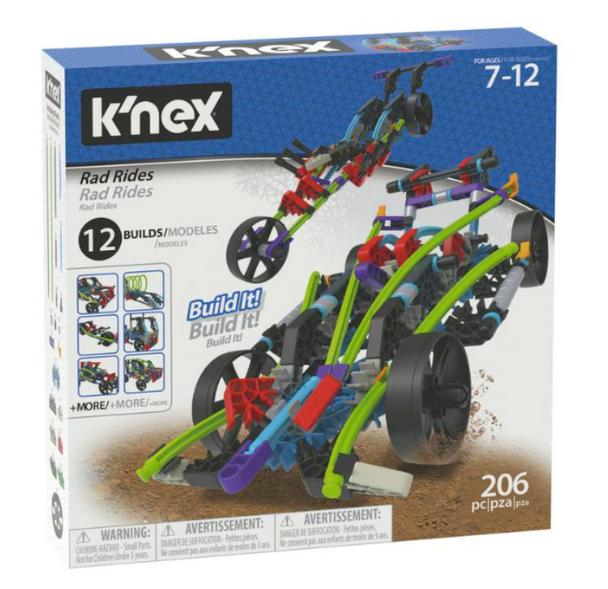 K'Nex Rad Rides Building Set - 206 Pieces