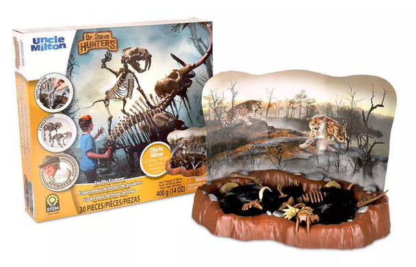 Dr Steve HUNTERS Tar Pits Explorer Slime Excavation Kit - Sabertooth Tiger vs. Mammoth