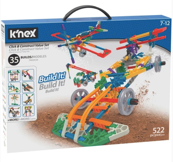 K'Nex Click & Construct Building Set - 522 Pieces