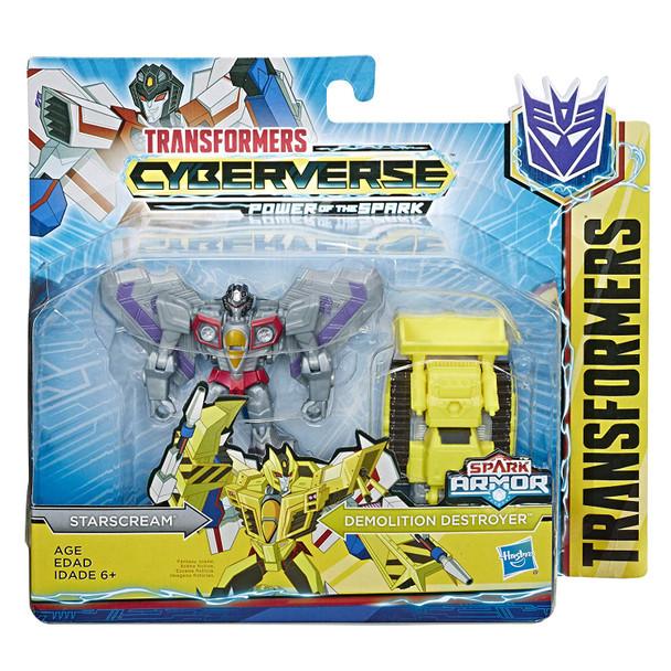 Transformers Cyberverse Spark Armour Starscream Action Figure - 12cm
