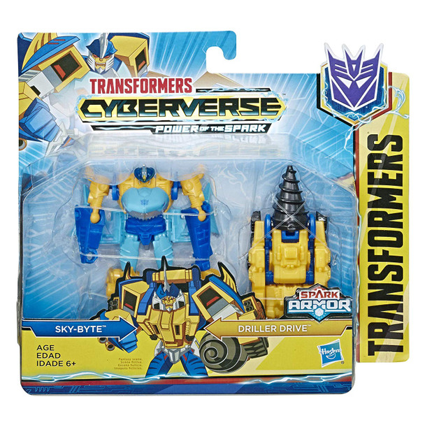 Transformers Cyberverse Spark Armour Sky-Byte Action Figure - 12cm