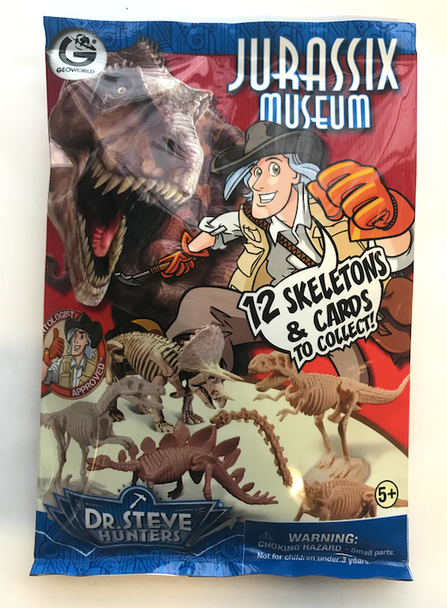 Dr Steve HUNTERS Jurassix Museum Dinosaur Skeleton Blind Bag