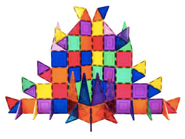 PicassoTiles 101 Piece Set Magnet Building Tiles - Clear Magnetic 3D Building Blocks