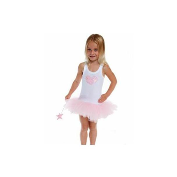 Fairy Girls Sweetheart Tutu Dress - Pale Pink - Large