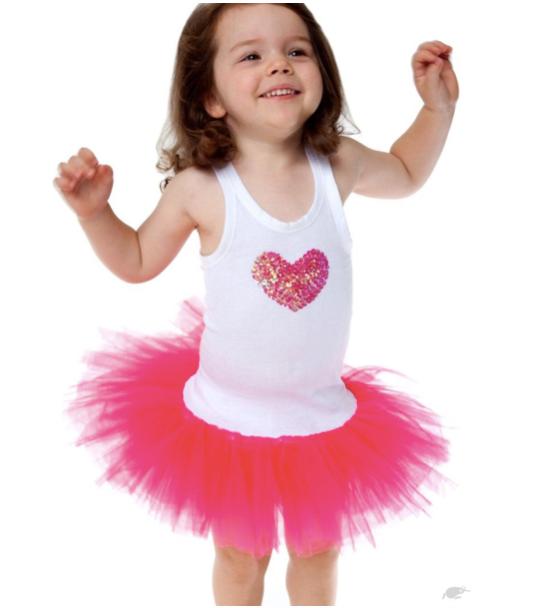Fairy Girls Sweetheart Tutu Dress - Hot Pink - Small