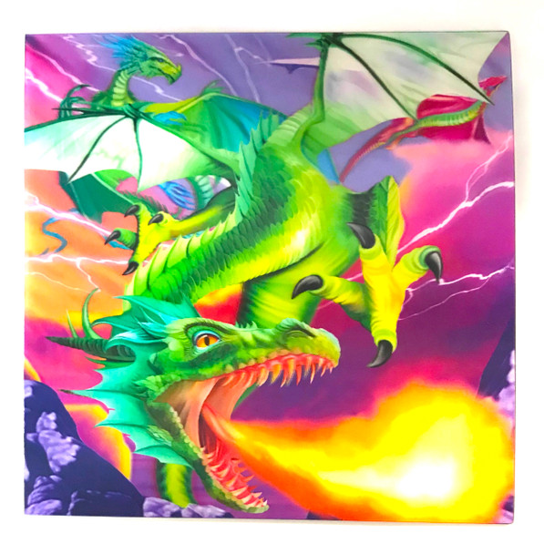 3D LiveLife Holographic Large Greeting Card - Flaming Dragon