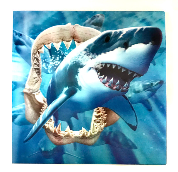 3D LiveLife Holographic Large Greeting Card - Great White Jaws