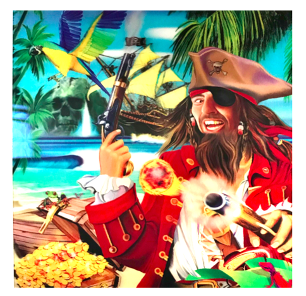 3D LiveLife Holographic Large Greeting Card - Pirate Island