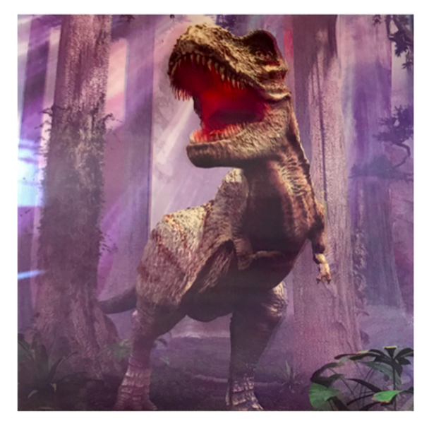 3D LiveLife Holographic Large Greeting Card - T-Rex Trouble