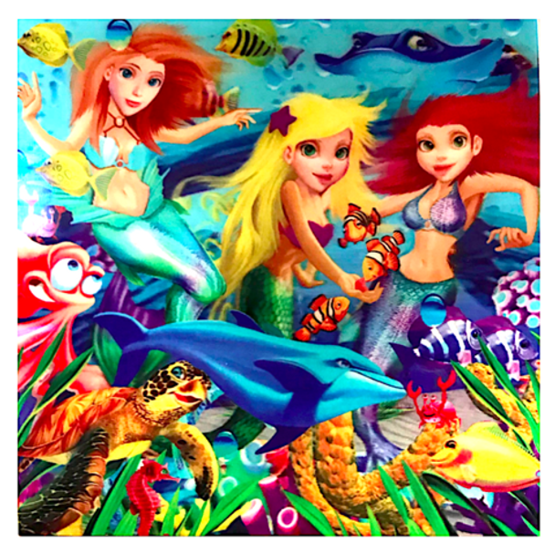 3D LiveLife Holographic Large Greeting Card - Mermaid Magic
