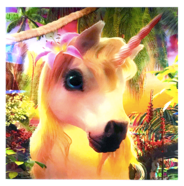 3D LiveLife Holographic Large Greeting Card - Cute Unicorn