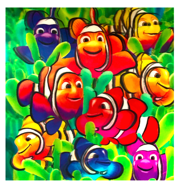 3D LiveLife Holographic Large Greeting Card - Cute Clownfish