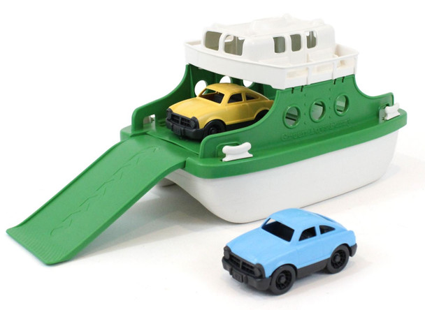 Green Toys Ferry Boat 100% Recycled Plastic Bath Toy - Green and White