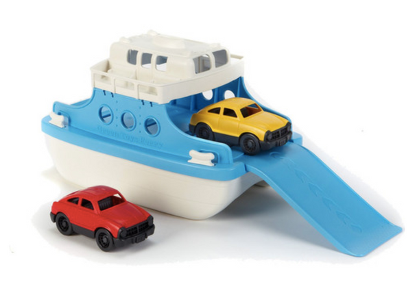 Green Toys Ferry Boat 100% Recycled Plastic Bath Toy - Blue and White