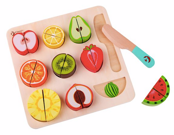 Classic World Wooden Cutting Fruit Puzzle