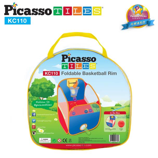 PicassoTiles® KC110 Foldable Basketball Rim