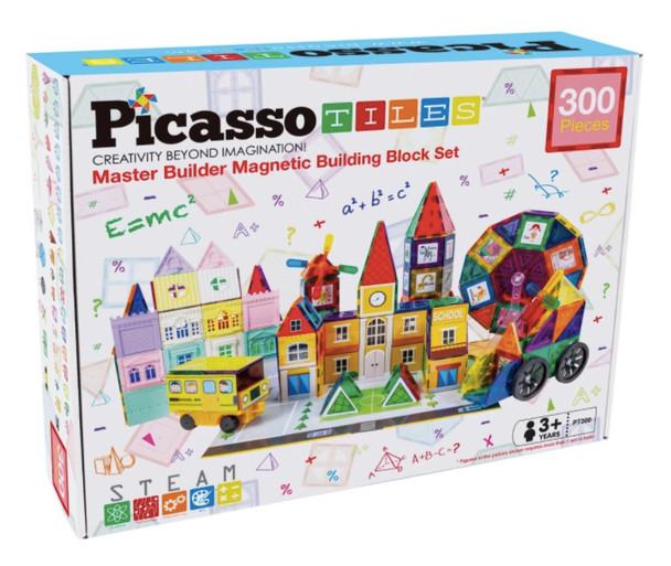 PicassoTiles® 300 Piece - Master Builder Magnetic 3D Building Block Set