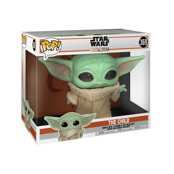 "FUNKO POP! Star Wars: Mandalorian - The Child 10"" (""Baby Yoda) Super Sized"