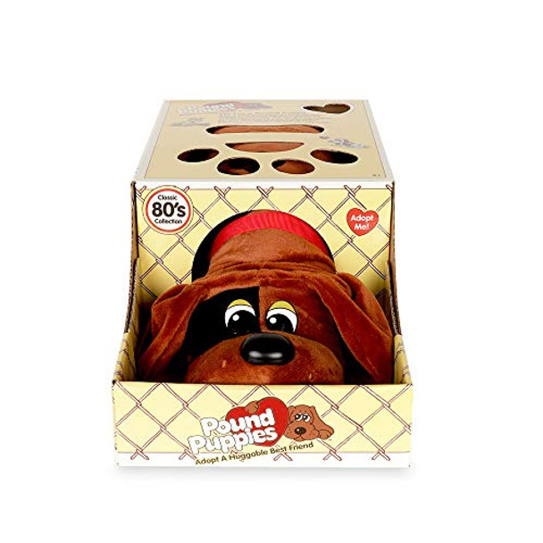 Pound Puppies Classic Plush - Brown with Black Spots