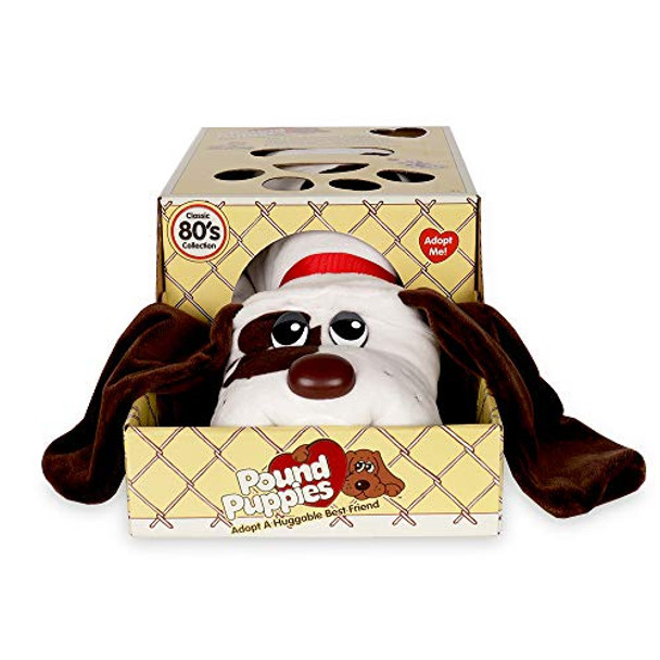 Pound Puppies Classic Plush - White with Brown Spots