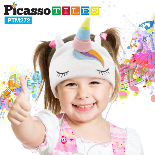 PicassoTiles® Kid Safe Fleece Headphone - Unicorn (PTM272-UNC)