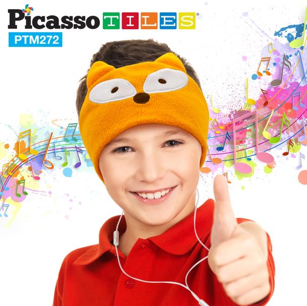 Kid Safe Headphones with Fleece Headband - Fox   Stay At Home Mum