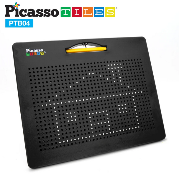 PicassoTiles Double-Sided Magnetic Drawing Board and Alphabet Board (PTB04)