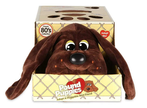 Pound Puppies Classic Plush - Chocolate Brown
