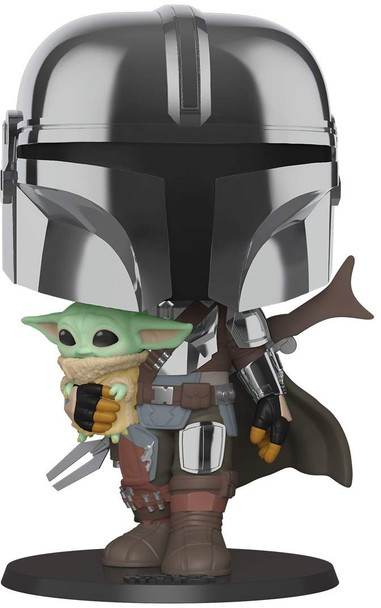 FUNKO POP! Star Wars: Mandalorian - Chrome Mandalorian w/ Child 10""