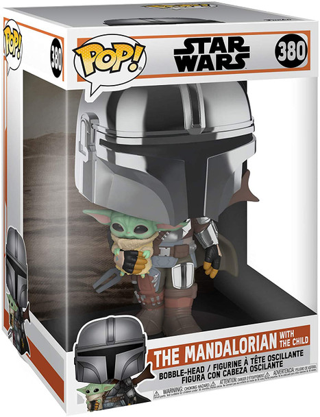 "FUNKO POP! Star Wars: Mandalorian - Chrome Mandalorian w/ Child 10"""