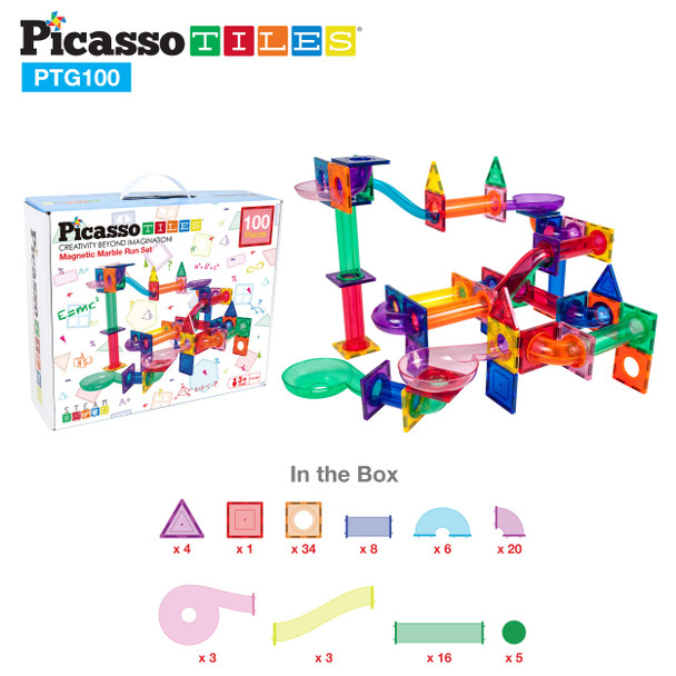 PicassoTiles Marble Run Set 100pcs