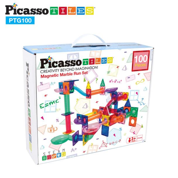 PicassoTiles® 100pc Marble Run Building Blocks PTG100