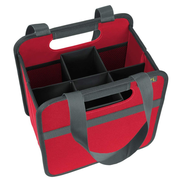 meori Wine Carrier Hibiscus Red, 6 Slot